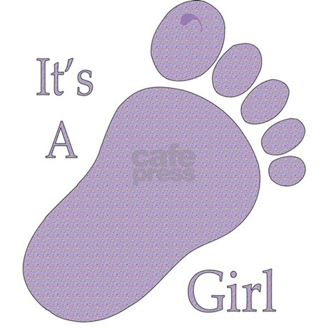 Its A Girl Purple