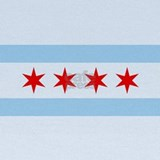 Chicago flag Baby Hats