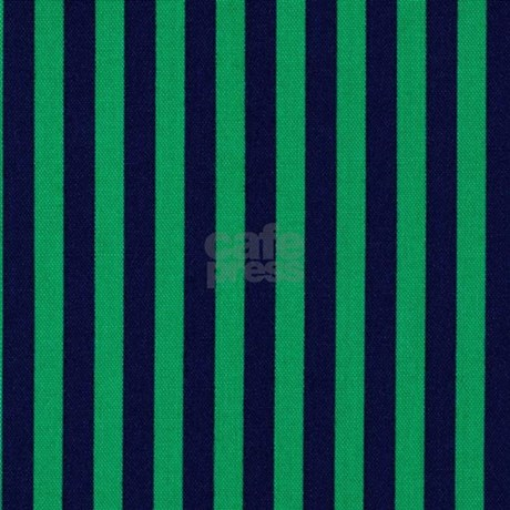 Classic Green And Dark Blue Striped Shower