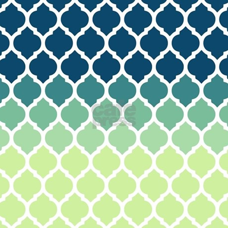 Green Curtains blue and green curtains : Blue Green Moroccan Lattice Shower Curtain by doodles_design