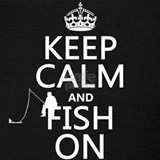 Keep calm and fish on Tank Tops