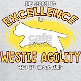 Westie agility Sweatshirts & Hoodies