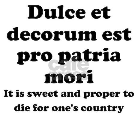 Dulce et decorum est pro patria mori translation