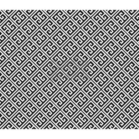Black And White Greek Key Pattern King Duvet By Mcornwallshop