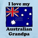 I love my australian grandpa Baby Bodysuits