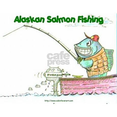 Alaskan salmon fishing license plate frame by fishgod for Alaska fishing license