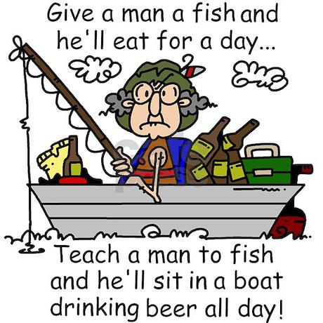 Teach a man to fish mug by peacockcards for Teach a man to fish