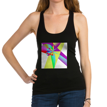 Rainbow Bow Racerback Tank Top
