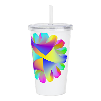 Twisted Rainbow Acrylic Double-wall Tumbler