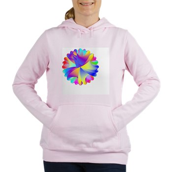 Rainbow Cluster Women's Hooded Sweatshirt
