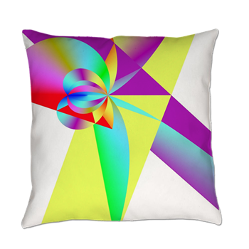 Rainbow Bow Everyday Pillow