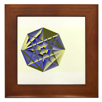Crystal Key Framed Tile