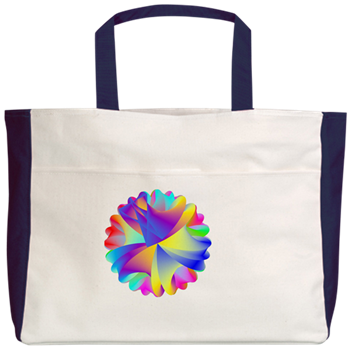 Rainbow Cluster Beach Tote