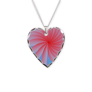 Passion Flower Pink Necklace