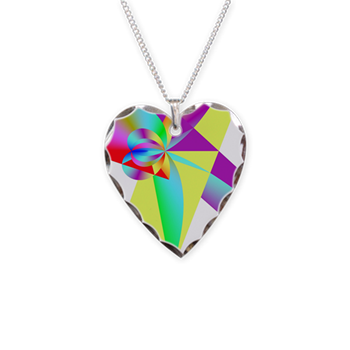 Rainbow Bow Necklace