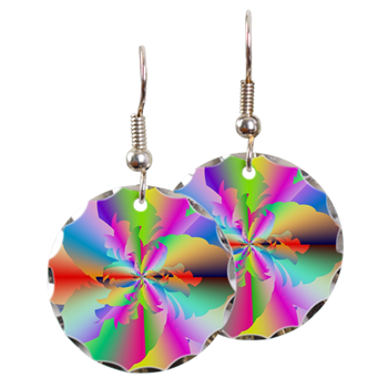 Fractal Fire Flower Earring