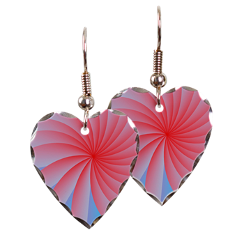 Passion Flower Pink Earring