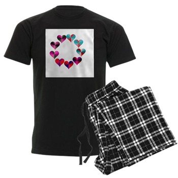 Circle of Iridescent Hearts Pajamas