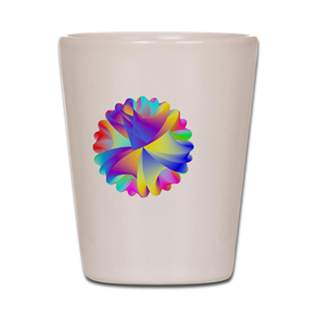 Rainbow Cluster Shot Glass