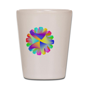 Twisted Rainbow Shot Glass