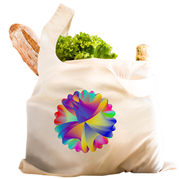 Rainbow Cluster Reusable Shopping Bag