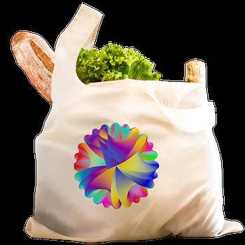Rainbow Cluster Reusable Shopping Bag