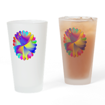 Rainbow Cluster Drinking Glass