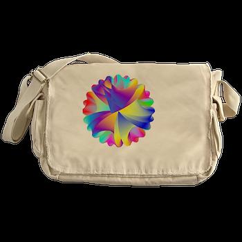 Rainbow Cluster Messenger Bag