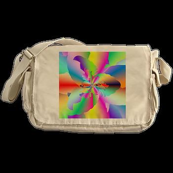 Fractal Fire Flower Messenger Bag