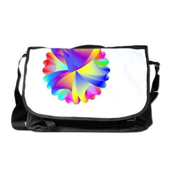 Rainbow Cluster Messenger Bag