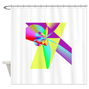 Rainbow Bow Shower Curtain