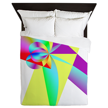 Rainbow Bow Queen Duvet