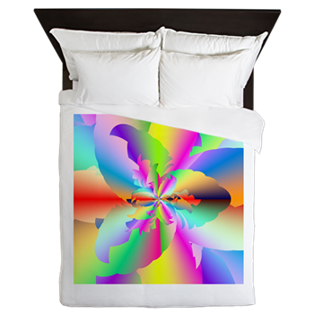 Fractal Fire Flower Queen Duvet