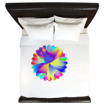 Rainbow Cluster King Duvet