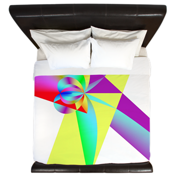Rainbow Bow King Duvet