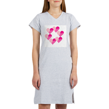 Circle of Candy Hearts Women's Nightshirt