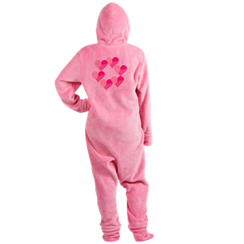 Circle of Candy Hearts Footed Pajamas