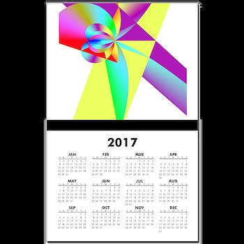 Rainbow Bow Calendar Print