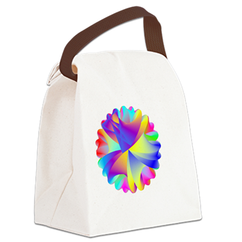Rainbow Cluster Canvas Lunch Bag
