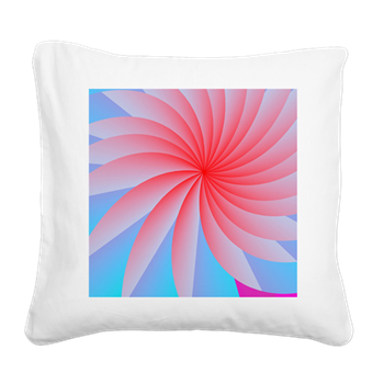 Passionately Pink! Square Canvas Pillow