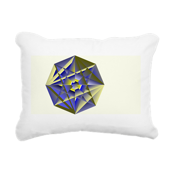 Crystal Key Rectangular Canvas Pillow