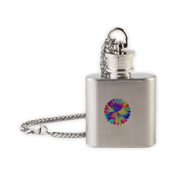 Rainbow Cluster Flask Necklace