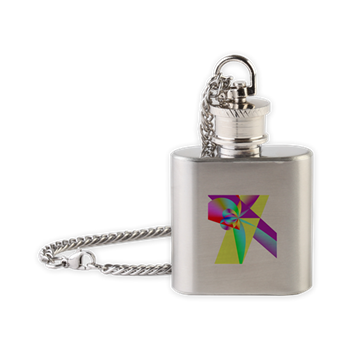 Rainbow Bow Flask Necklace