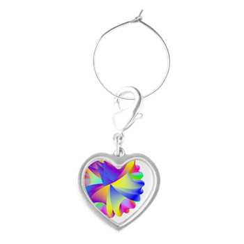 Rainbow Cluster Wine Charms
