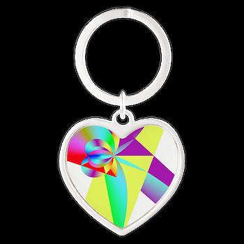 Rainbow Bow Keychains