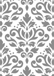 Scroll Damask Grey and White