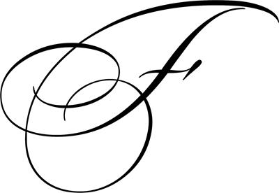 Letter F Cursive Initial Invitations By Admin Cp2161660