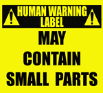 Human Warning Label: Small Parts