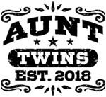 Aunt Twins Est.2018 t-shirts