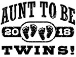 Aunt To Be Twins 2018 t-shirts